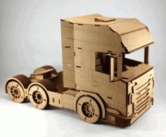 Tractor Truck For LaserCut Cnc Free DXF File