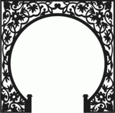 Unique Pattern For The Partition Of The Altar For Laser Cut Cnc Free DXF File