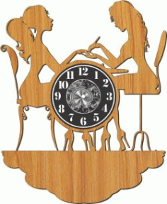 Watches At Nail Salon Download For Laser Cut Plasma Free CDR Vectors Art