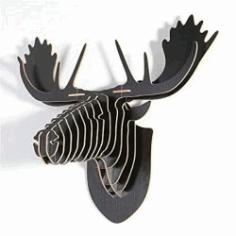 3d Puzzle Deer Head For Laser Cut Cnc Free CDR Vectors Art