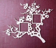 Apricot Tree Picture Frame For Laser Cut Cnc Free CDR Vectors Art