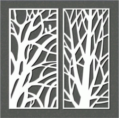 Big Branches For Laser Cut Cnc Free CDR Vectors Art