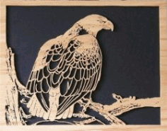 Buecs Eagle Picture For Laser Cut Cnc Free CDR Vectors Art