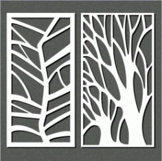 Butterfly Shaped Tree For Laser Cut Cnc Free CDR Vectors Art