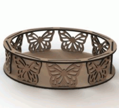 Butterfly Tray For Laser Cut Cnc Free CDR Vectors Art