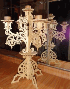 Candle Stand For Laser Cut Cnc Free CDR Vectors Art