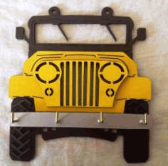 Car Jeep Shaped Hanger For Laser Cut Cnc Free CDR Vectors Art