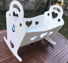 Cradle For Baby For Laser Cut Cnc Free CDR Vectors Art