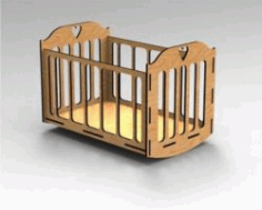 Crib For Babies For Laser Cut Cnc Free CDR Vectors Art