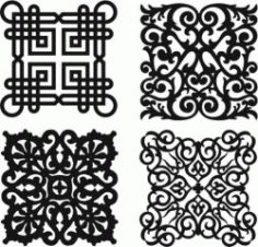 Damask Seamless Floral Pattern For Laser Cut Plasma Free CDR Vectors Art