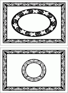 Decorative Motifs Rectangular Frame For Laser Cut Cnc Free CDR Vectors Art