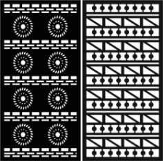 Duplicate Detailed Baffle Pattern For Laser Cut Cnc Free CDR Vectors Art