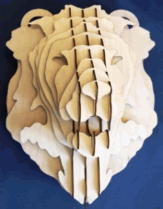 Female lion's Head For Laser Cut Cnc Free CDR Vectors Art