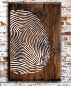Fingerprint Painting For Laser Cut Cnc Free CDR Vectors Art