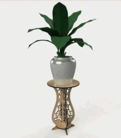 Flower Pot Shelf For Laser Cut Cnc Free CDR Vectors Art