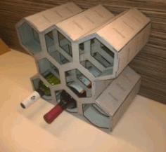 Honeycomb Wine Rack For Laser Cut Cnc Free CDR Vectors Art