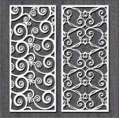 Hook Pattern For Laser Cut Cnc Free CDR Vectors Art