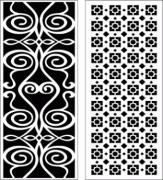 Hook Twist Baffle Design For Laser Cut Cnc Free CDR Vectors Art