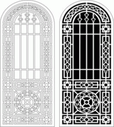 Islamic Style Arch Door For Laser Cut Cnc Free CDR Vectors Art