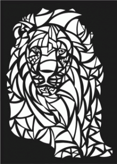 Lions Motifs Lion For Laser Cut Cnc Free CDR Vectors Art