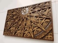 Mandala For Laser Cut Free CDR Vectors Art
