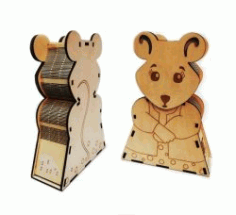 Mouse Shaped Box For Laser Cut Cnc Free CDR Vectors Art