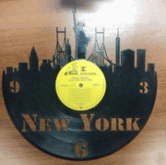 New York Clock For Laser Cut Plasma Free CDR Vectors Art