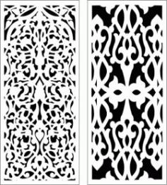 Nice And Unique Partition For Laser Cut Cnc Free CDR Vectors Art