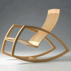 Oak Rocking Chair For Laser Cut Cnc Free CDR Vectors Art