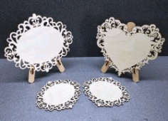 Oval And Heart For Laser Cut Free CDR Vectors Art