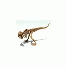 Allosaurus Dinosaur 3d Puzzle Free DXF File