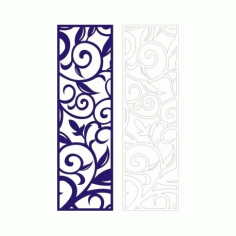 Cutout Partition Lace Floral Porch Template Free DXF File