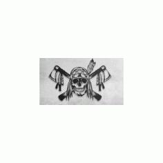 kafatası avcısı Skull Dxf Free DXF File