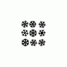 Snowflakes Snezhinki Free DXF File