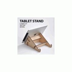 Tablet Stand Laser Cutter Project Plan Free DXF File