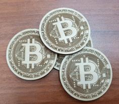 Bit Coin Logo Free DXF File