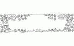 Flowers Panel Screen Free DXF File