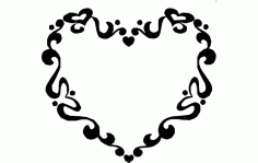 Heart Frame Sign Free DXF File