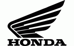 Honda Motorcycle Logo Free DXF File