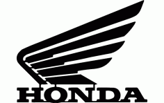 Honda Motorcycle Wing Free DXF File