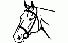 Horse Face Free DXF File