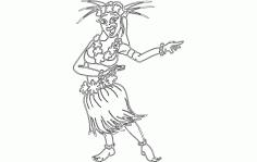 Hula Dance Lady Free DXF File