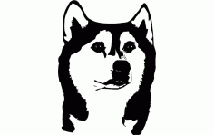 Husky Animal Free DXF File