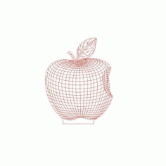 Apple 3d Led NightLight Free CDR Vectors Art