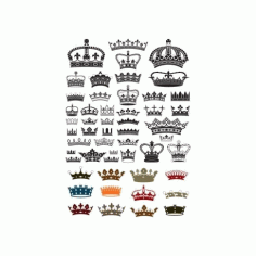 Collection Of Crown Silhouette Free CDR Vectors Art