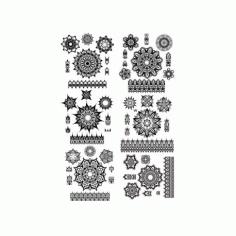 Fancy Ornamental Design Set Free CDR Vectors Art