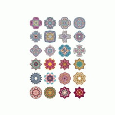 Mandala Flower Doodle Ornaments Free CDR Vectors Art