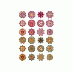 Mandala Ornaments Circles 5 Free CDR Vectors Art