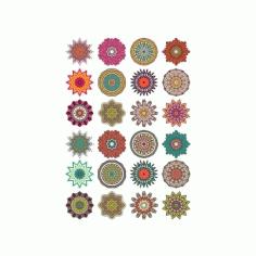 Mandala Ornaments Circles Set Free CDR Vectors Art