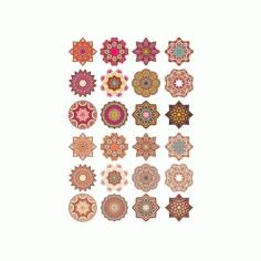 Mandala Pattern Doodl Round 6 Free CDR Vectors Art